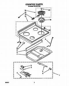 Whirlpool Model Rf370pxyw0 Free Standing  Electric Genuine
