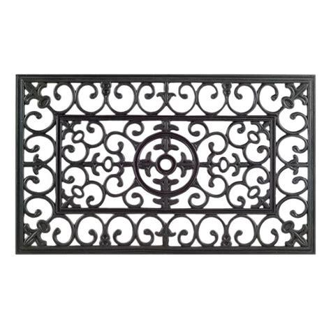 Black Rubber Doormat by Shop Napoleon Black Rubber Door Mat 30 X 18 On Sale