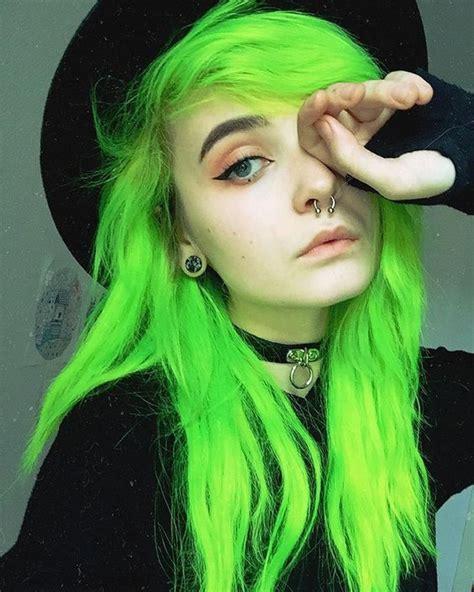 Cool Hair Colors For Black Hair by Neon Green Hair Color Hair Colors Ideas