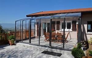 Abri De Terrasse Rideau : abri terrasse coulissant et r tractable verandream ~ Premium-room.com Idées de Décoration
