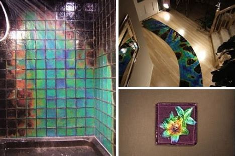 cool heat sensitive color morphing glass tiles
