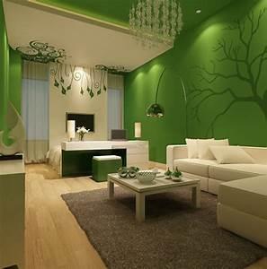 Wanddeko Ideen Wohnzimmer : wohnzimmer einrichten ideen gr ne w nde sch ne wanddeko beiger teppich wohnzimmer ideen ~ Markanthonyermac.com Haus und Dekorationen