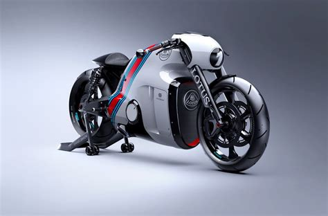 Not as impressive as the tron pt cruiser, but close. The Lotus C-01 Motorcycle