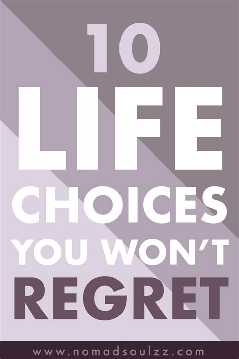 regret choices decisions won years happiness hard