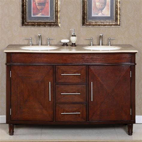 "Silkroad Exclusive Silk Road 55"" Traditional Double Sink"