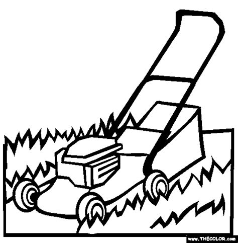 funny lawn mower sheets coloring pages