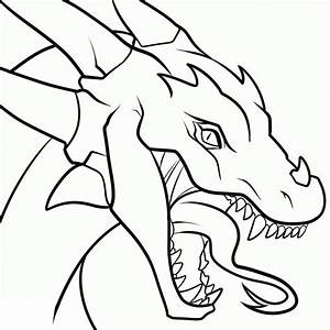 Easy To Draw Dragon Heads - Drawings Nocturnal