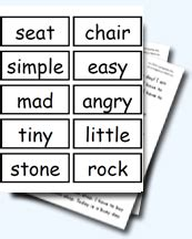 synonym worksheets  teaching activities
