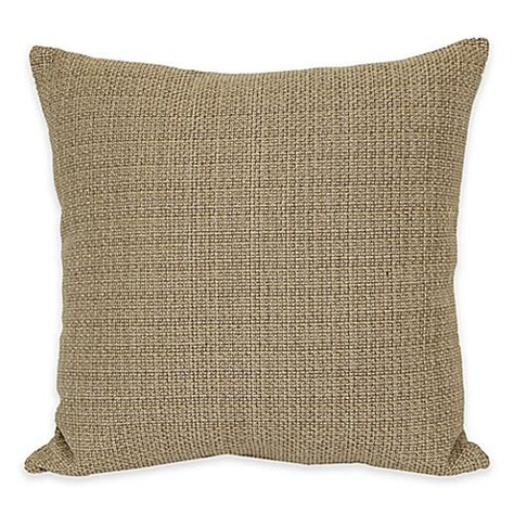 bed bath and beyond sofa pillows buy eades weave throw pillow in gold from bed bath beyond