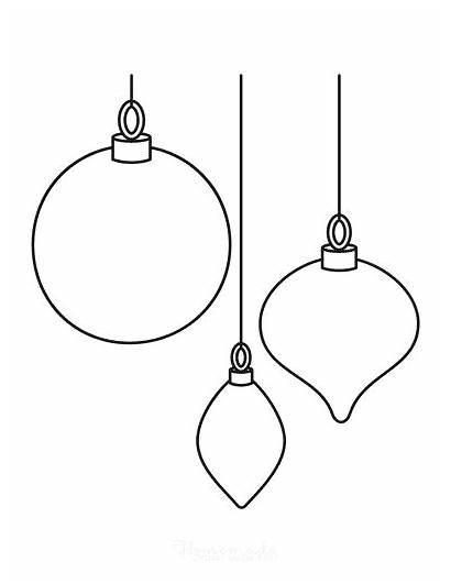 Coloring Ornaments Ornament Blank Templates Homemade Easy