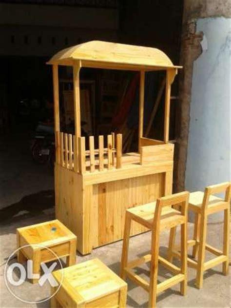 jual pembuatan gerobak es kayu jati belanda  lapak rifqi