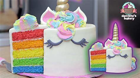 Haz Un Pastel Unicornio  ArcoÍris  Dacosta's Bakery