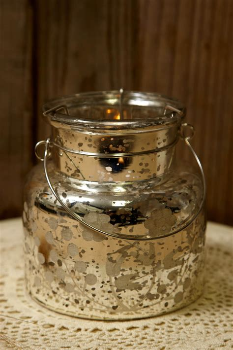 candle holders glass mercury glass candle holder