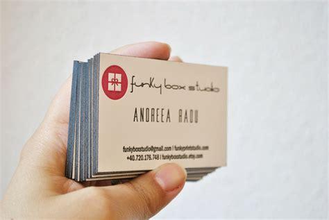 scenes letterpress business cards  edge