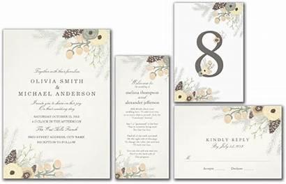 Winter Invitation Foliage Cards Invitations Elegant Gifts