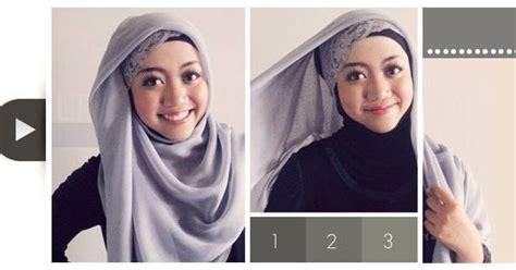 tutorial jilbab segi empat simpel  cantik hijab yuk