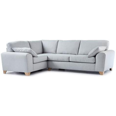 Corner Sofa by Robyn Fabric Corner Sofa Left In Light Grey Just