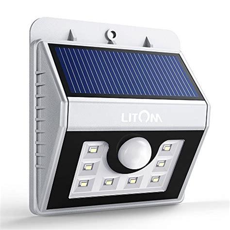 8 led le solaire murale litom luminaire ext 233 rieur sans fil d 233 tecteur de mouvement eclairage