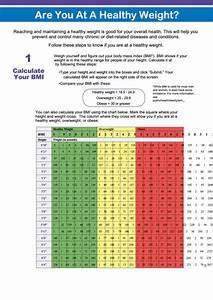 Body Mass Index Chart  U0026 Calculator Printable Pdf Download