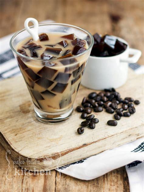 Coffee Jelly Amond Milk Tea   Paleo Foodie Kitchen