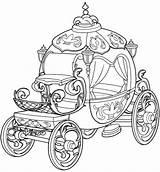 Carriage Coloring Princess Cinderella Fairy Pumpkin Tale Sheet Disney Printable Enchanting Getdrawings Getcolorings sketch template