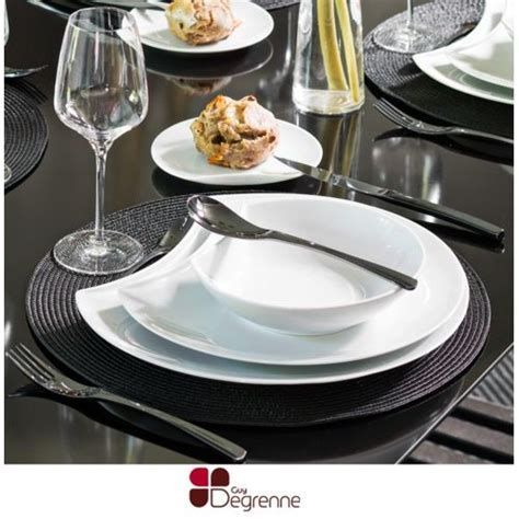 service de table design degrenne service de table 18 pi 232 ces newmoon par pas cher achat vente service de