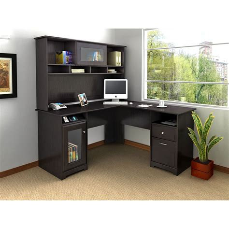 Bush Cabot L Shaped Desk Gray by Epic Office Furniture
