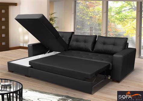 Leather Sofa Bed by Brand New Corner Sofa Bed With Storage Top Quality Eco