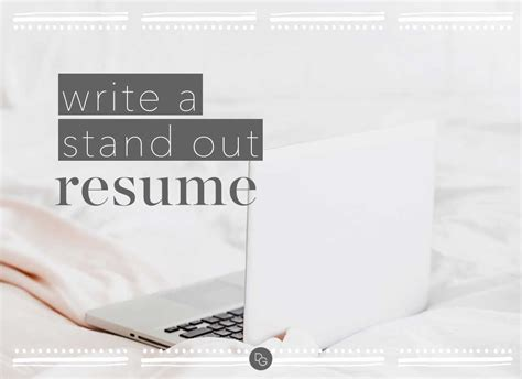 Stand Out Resume by How To Write A Stand Out Resume The Daily Guru