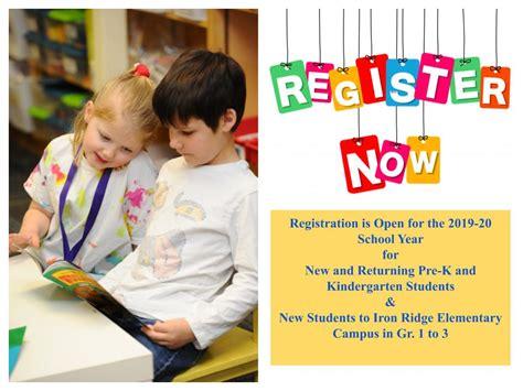registration open pre kindergarten grade