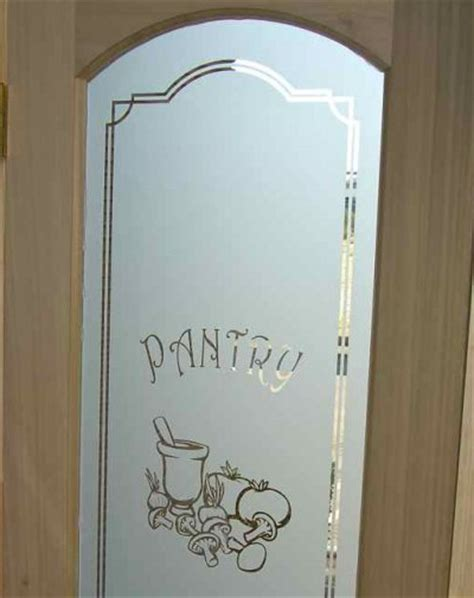 etched glass pantry doors pantry door glass etched carved by sans soucie sans