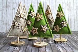 Weihnachtsbäume Aus Papier Basteln : basteln und n hen zu weihnachten kleine weihnachtsb ume aus filz ~ Orissabook.com Haus und Dekorationen