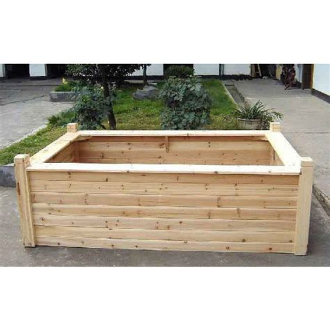 wooden seated raised bed cedar raised beds raised beds