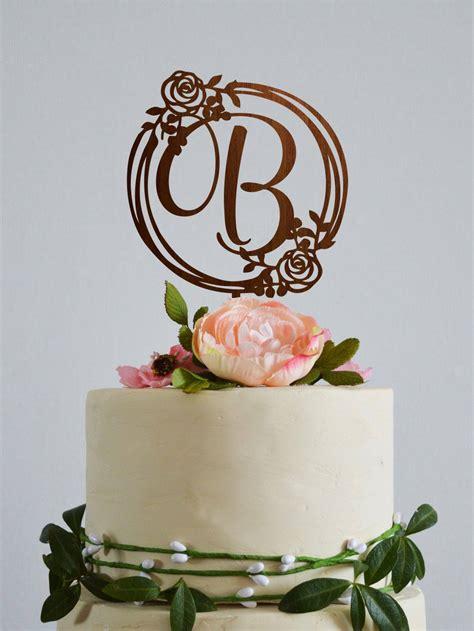 wedding cake topper letter  initial cake topper letter  etsy