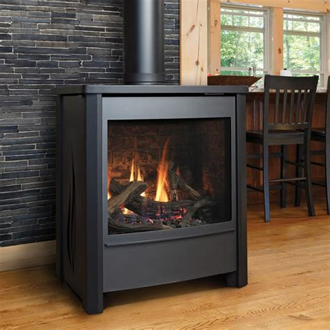 free standing gas fireplaces kingsman fdv451 free standing direct vent gas stove