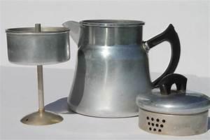 vintage Montgomery Wards stovetop coffee pot percolator, 2