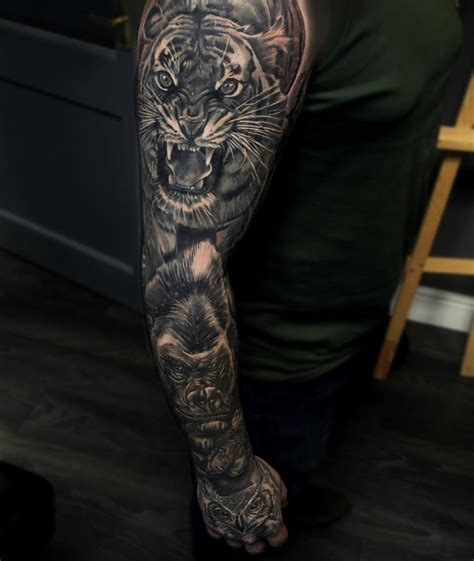monumental ink  twitter completed animal sleeve