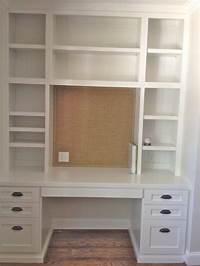 built in desk Desks + Bulletin Boards + Burlap - The Simple Proof