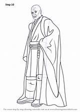 Coloring Printable Mace Windu Wars Draw Pdf Drawing Sci Fi Halo Zip Step sketch template