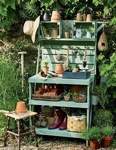 Etagere De Jardin : diy jardin fabriquer un meuble de rangement marie claire ~ Premium-room.com Idées de Décoration