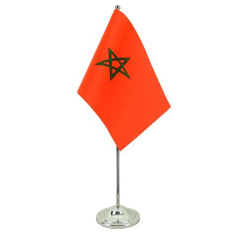 stock bureau maroc drapeau de table prestige maroc chromé monsieur drapeaux