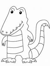 Crocodile Coloring Pages Animals Animal Sheet Printable sketch template