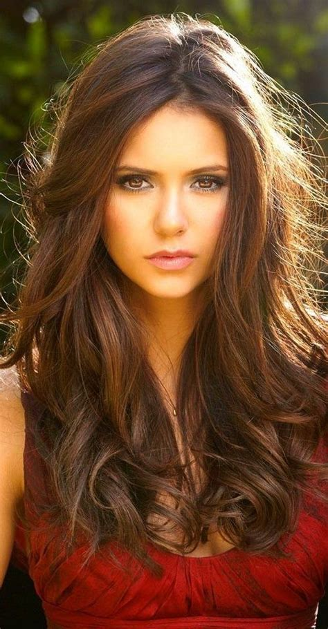 55 lovely long hair ladies layers soft feathered chestnut