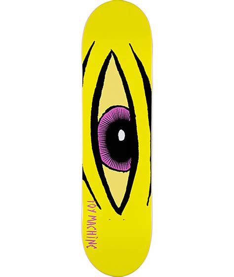 toy machine sect eye yellow 8 0 quot skateboard deck