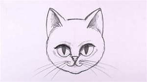 How, To, Draw, A, Cat, Face, In, Pencil, -, Drawing, Lesson, -, Mat