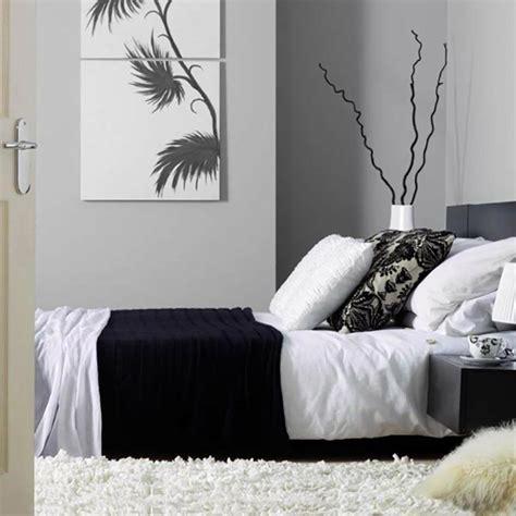 chambre a coucher blanc murs et ameublement chambre tout en gris tendance