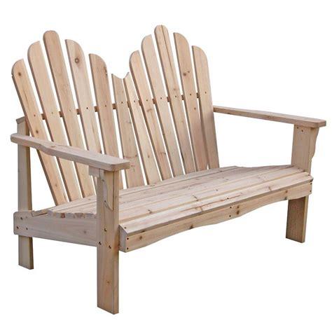 brand new yellow cedar wood outdoor patio 2 seat