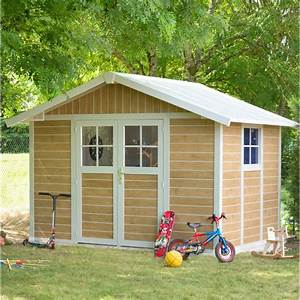 abri de jardin en pvc 75m2 deco sherwood grosfillex kit With grosfillex abri de jardin
