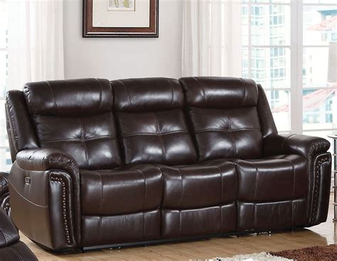 Espresso Leather Loveseat by Espresso Leather Match Power Reclining Sofa From