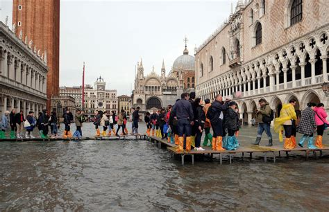 Venice Flooding In Dramatic Pictures